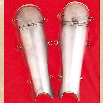 Armour Roman Leg (ROMAN SOLDIER LEGIONAIRE CENTURION Steel Knee Shin Leg Guard GREAVES ARMOR New )