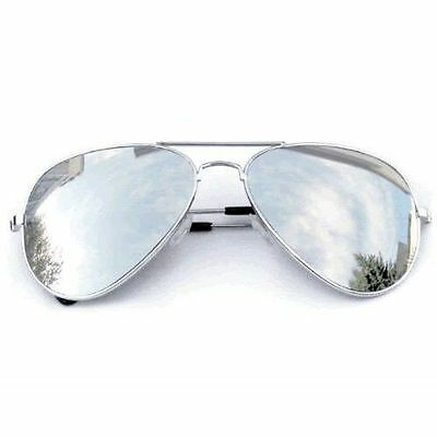 New Shades Sunglasses Mirrored Classic Party Hot TopGun Chrome Pilot Cop Costume