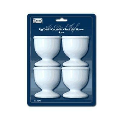 1 X Egg Cups Set 4 PC Poached Hard Boiled Breakfast White Save Kitchen Hot Food