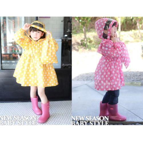 Girls Yellow Raincoat