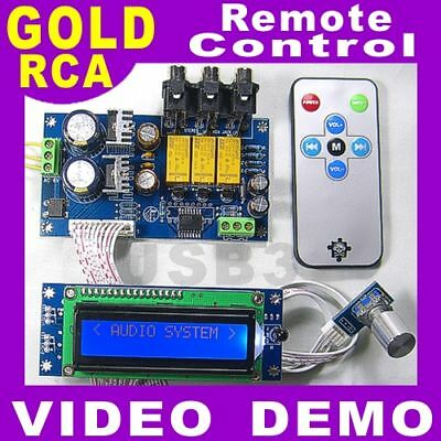 NEW DIY LCD PGA2311 Volume Remote Control KIT Free Knob