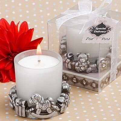 25 Unique Silver Themed Candle Special Delivery Baby Shower Party Favors