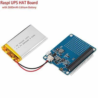 MakerFocus Raspberry Pi 3 Battery Pack  Raspi UPS HAT Board USB Battery Pack Ras