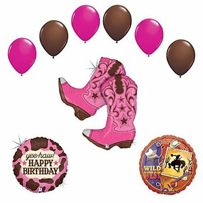 Wild Wild West Cowgirl Boots Birthday Party Supplies and Balloons Decorations - Cowgirl Birthday Supplies