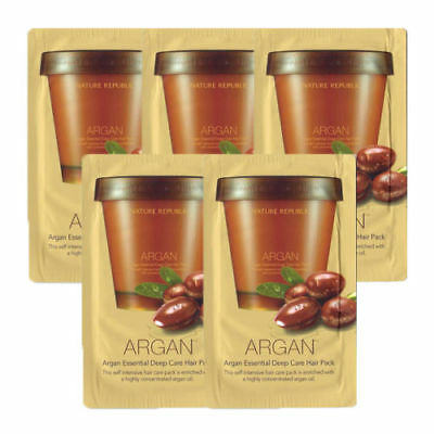 Nature Republic / Argan Essential Deep Care Hair Pack Sample 5pcs with Free Gift