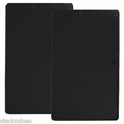 Reston Lloyd Rectangular Stove Burner Covers, Set of 2 Black for Electric Stove