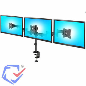 dreifach universal monitor halterung tischhalterung monitorarm 360 13 27 zoll ebay. Black Bedroom Furniture Sets. Home Design Ideas