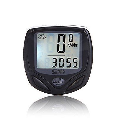 BIKE WIRELESS LCD  COMPUTER SPEEDO ODOMETER WATERPROOF SPEEDOMETER CYCLE BICYCLE