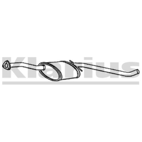 1x KLARIUS OE Quality Replacement Middle Silencer Exhaust For VAUXHALL Petrol