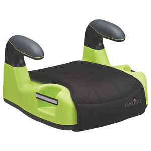 EVENFLO AMP DLX NO BACK BOOSTER SEAT - BLACK / LIME GREEN
