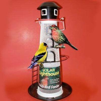 NO NO SOLAR LIGHTHOUSE BIRD FEEDER FINCH FEEDER NONOLH00355