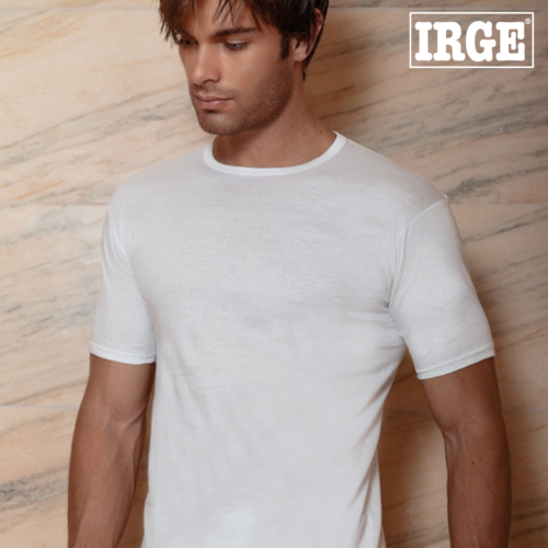 Maglietta INTIMO uomo scollo V GIROCOLLO COTONE manica corta T shirt IRGE