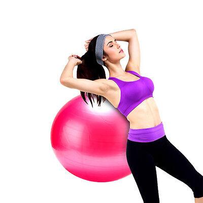 """65cm Yoga Exercise Ball 25"""" GYM Gymnastic Fitness Pilates Balance Ball pink"""
