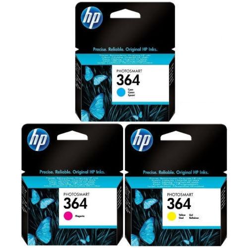 Original Genuine HP 364 Cyan Magenta Yellow Ink Cartridges For 5510 5515 C6380