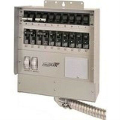 510C Pro/Tran2 50-Amp 10-Circuit2 Manual Transfer Switch with Watt Meters
