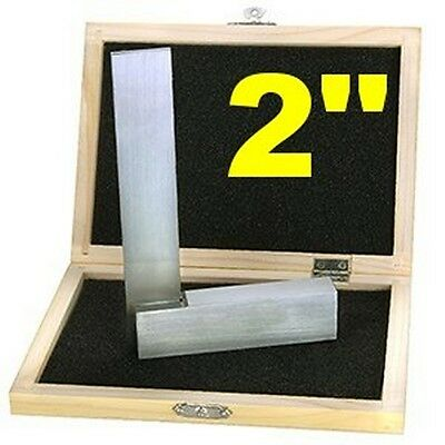 2  Machinist Square Set Precision Hardened Steel Metal Tool W Case