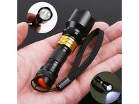 3W MINI GOLD CREE Q5 LED TORCH SUPER BRIGHT FLASHLIGHT WATERPROOF STRAP