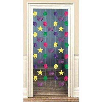 MARDI GRAS DOOR CURTAIN ~ Birthday Party Supplies Room Decoration Foil Hanging
