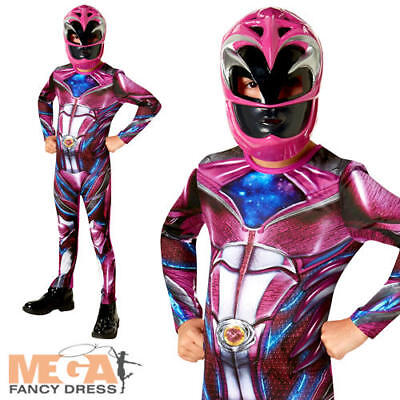 Power Rangers Movie Pink Ranger Childs Fancy Dress Movie Character Girls Costume
