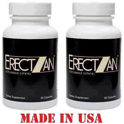 Erectzan  2 Bottles    Male Enhancement Bigger Harder Stronger Longer Erections