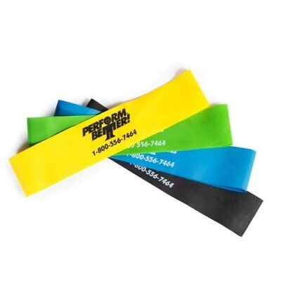 Perform Better Mini Band Resistance Loop Exercise Bands Set of 4 New