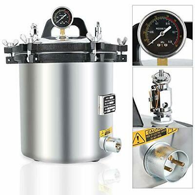 110v 18l Steam Autoclave Sterilizer Dental Pressure Sterilization Dual Heating