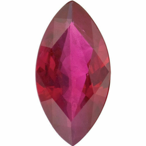 Natural Ruby Heated with Residues 1 Carat 8x5 mm Pear Cut Gemstone Loose Faceted Corundum July Birthstone Treated Ruby