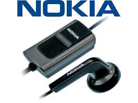 BRAND NEW OFFICIAL NOKIA HS-40 HEADSET EARBUD AERIAL BUTTON OPERATION LANYARD.**