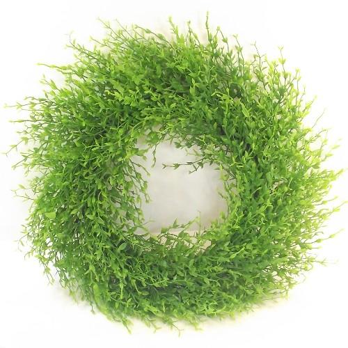 Künstlich Mini Blatt Kranz 50cm - Grün - Dekorativ Kränze und Girlanden