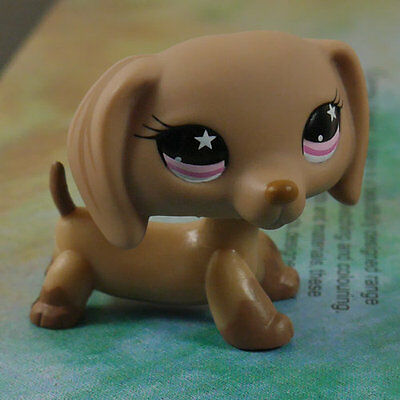 LPS COLLECTION LITTLEST PET SHOP Chocolate Dachshund  RARE TOY 3""