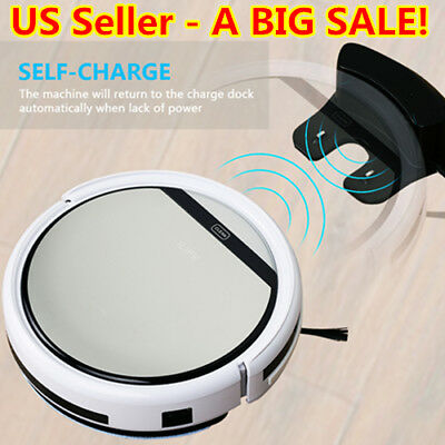 ILIFE V5 Smart Robotic Vacuum Auto Cleaning Microfiber Cleaner Mop Floor Sweeper