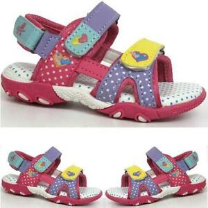 GIRLS-SUMMER-SANDALS-INFANTS-NEW-BABY-TODDLERS-WALKING-VELCRO-BEACH-SHOES-SIZE