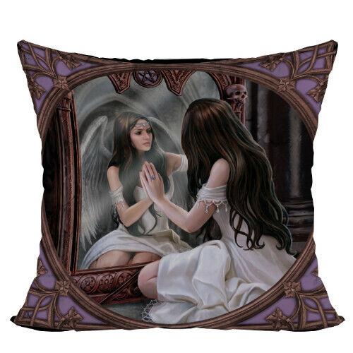 MAGIC MIRROR Fairy Decorative Pillow Cushion fantasy art faery tale Anne Stokes
