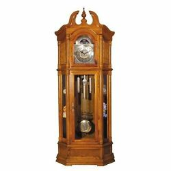 Acme Furniture 01410, Rissa Oak Wood Grandfather Clock In Oak Finish New