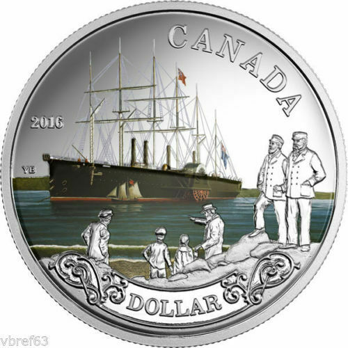 2016 Can. $1 silver proof 99.99% silver - celebrating the transatlantic cable