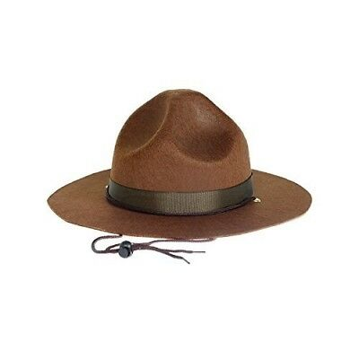 Highway Patrol Drill Sergeant Mountie Police Hat Ranger State Trooper Costume