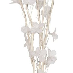 NEW Decorative White Twig Branch Lights With Beautiful White Flowers