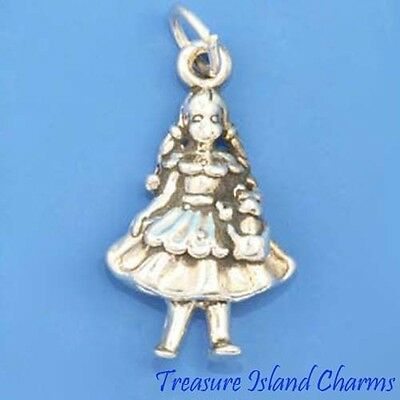 Dorothy Girl And Dog Toto Wizard Of Oz 3D .925 Solid Sterling Silver Charm - Dorothy Wizard Of Oz Dog