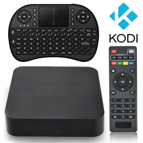Fully Loaded  Android4.4 Smart TV BOX Quad Core 8GB MX Q KO DI16.1+Keyboard Root