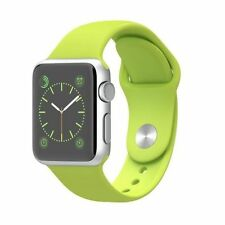 Apple iWatch 38MM Silver Aluminum Case Green Sport (MJ2U2LL/A) (100% Positive)