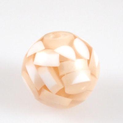 le Kugel apricot weiß 2cm Acrylperlen Perlen zum Basteln-1210 (Große Kunststoff-perlen)