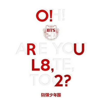 BTS-[O!RUL8,2?] 1st Mini Album CD+POSTER(On)+Photo Book+Card+Gift+Tracking
