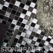 Silver Glass Mosaic Tiles