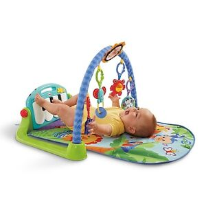 Fisher- Price Kick and Play Piano Gym, Tummy Time Mat