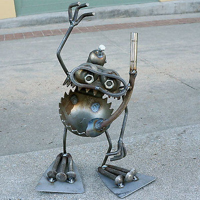 Sugarpost Gnome Be Gone Standing Scuba Diver Welded Metal Art
