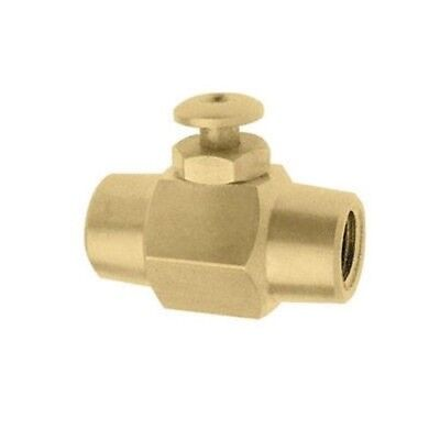 Push Button Brass Air Control Shut On Off Valve Switch 14 Npt Air Or Liquid