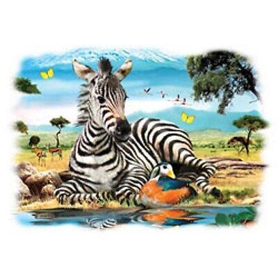 Zebra Foal Baby Heat Press Transfer For T Shirt Sweatshirt Tote Bag Fabric 270d