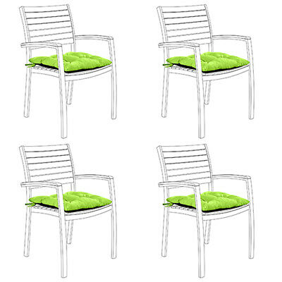 Lime 4pk Water Resistant Tufted Indoor Garden Chair Seat Pad Cushion Patio