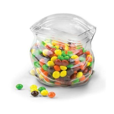 Fred & Friends UNZIPPED Glass Zipper Bag Kitchen Desk Candy Snack Container - Candy Jar