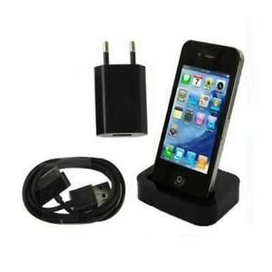 3in1 dockingstation mit netzteil ladekabel datenkabel dock iphone 4 4s schwarz ebay. Black Bedroom Furniture Sets. Home Design Ideas